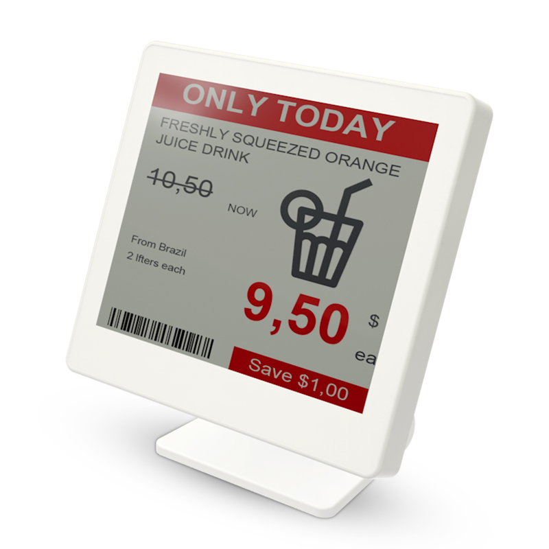 "4.2"" ESL 3-Color E-ink Price Tag Electronic Shelf Label For New Retail Solution"