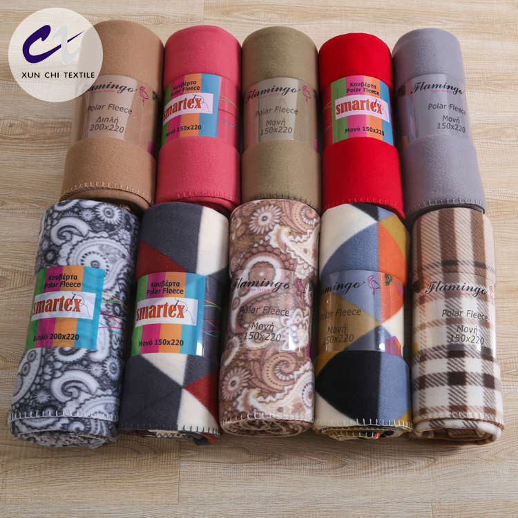 Hot products high quality baby printed polyester fleece blanket