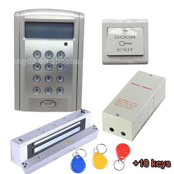 office punch card time attendance clock system with 10 cardsstrike lockdoor - Time Card Punch