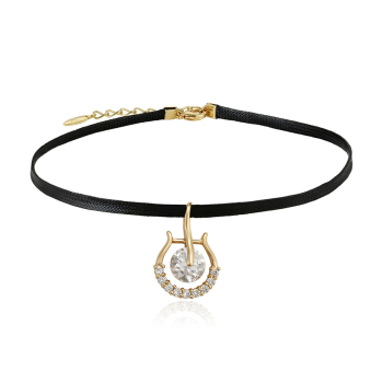 44326 Xuping Jewelry Newly 18K Gold Plated Elegant Choker Necklace With Personalized Design Of Charm