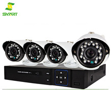 SYART Factory wholesale H.264 Network DVR with Mobile Viewing and Waterproof IR CCTV kits