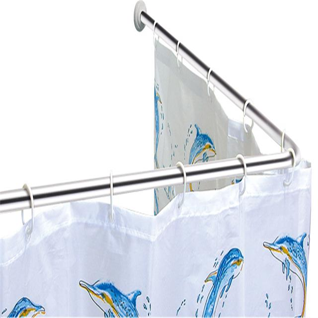 2017 Stainless Steel L Shape shower curtain rod