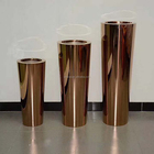 Rose gold coloured conical metal stainless steel flower planter / plant pot