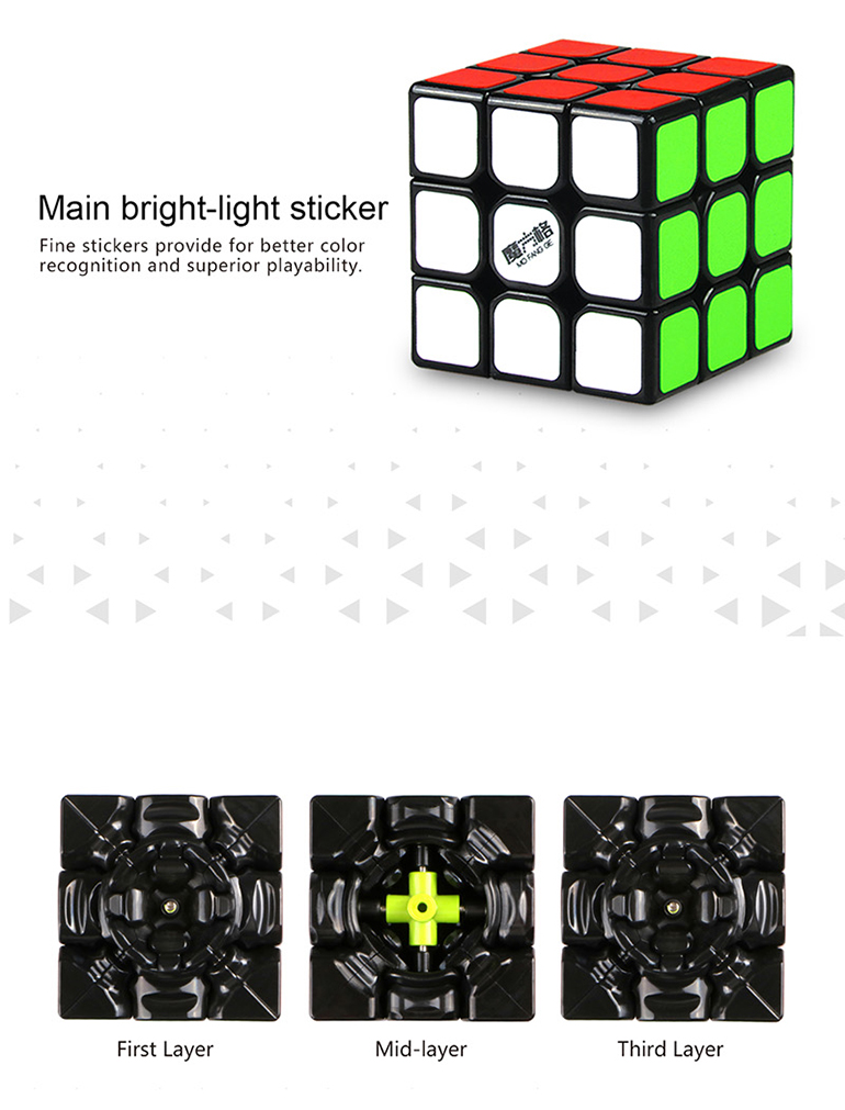 3*3*3 abs educational twisty plastic cube puzzle solution with 5.6 cm