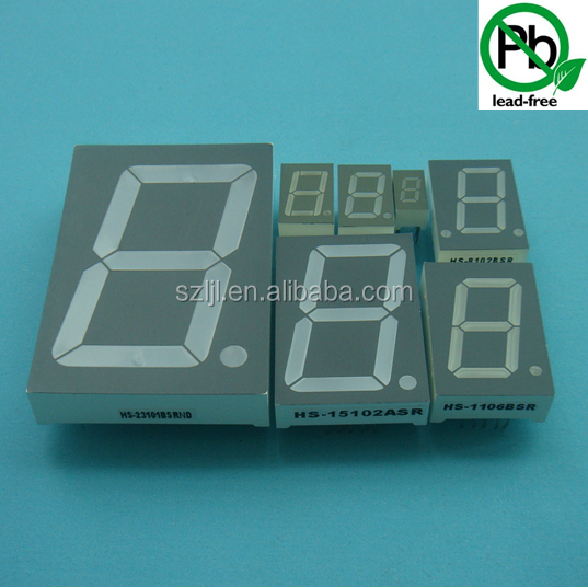 Bule color indoor/outdoor 2.3 inch 7 segment single digit numeric LED display