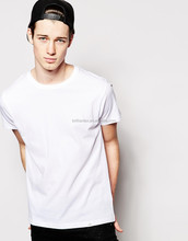 White Casual Custom Cotton Plain Men's T Shirts