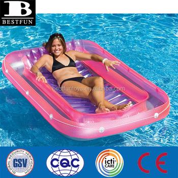 Lounge Stoel Opblaasbaar.Stevige Tough Opblaasbare Zwembad Float Lounge Tanning Air Matras