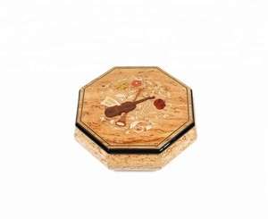 Wooden Mosaic piano lacquer music box jewelry box for your lover