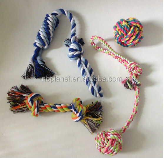 set of 4 Pets Puppy Dog Pet Rope Toys For Small to Medium Dogs