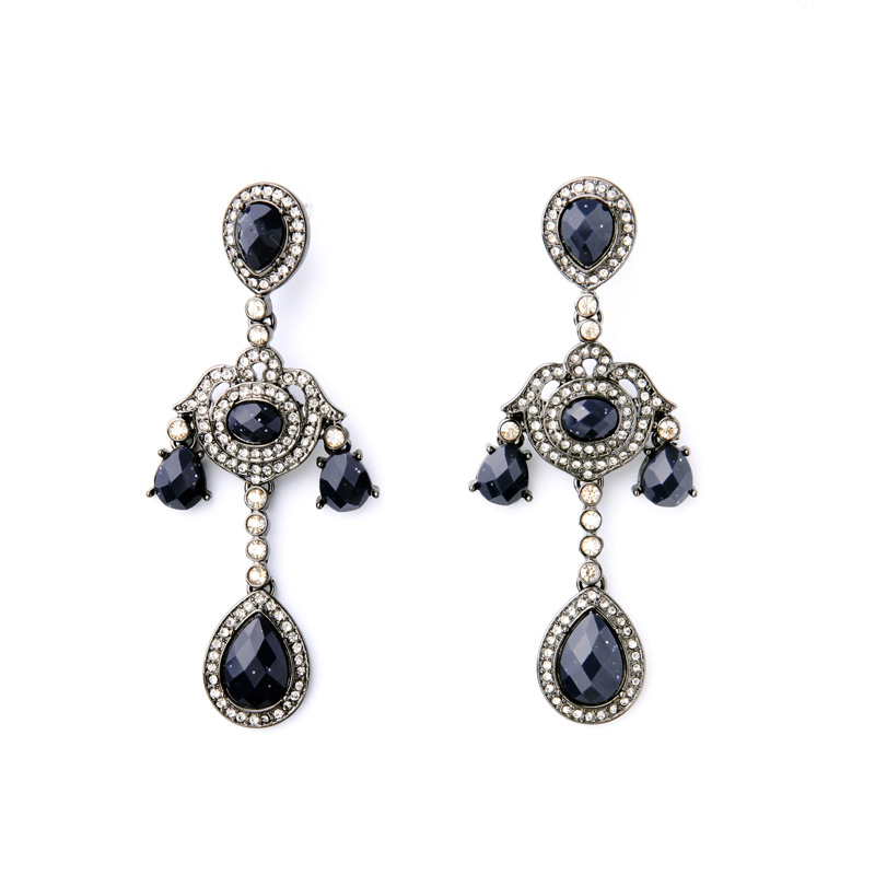 Elegant Chandelier Earrings Online Shopping India Deep Blue Large Evening  Dress Jewelry