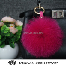 Plush keychain key ring wholesale fur pom poms