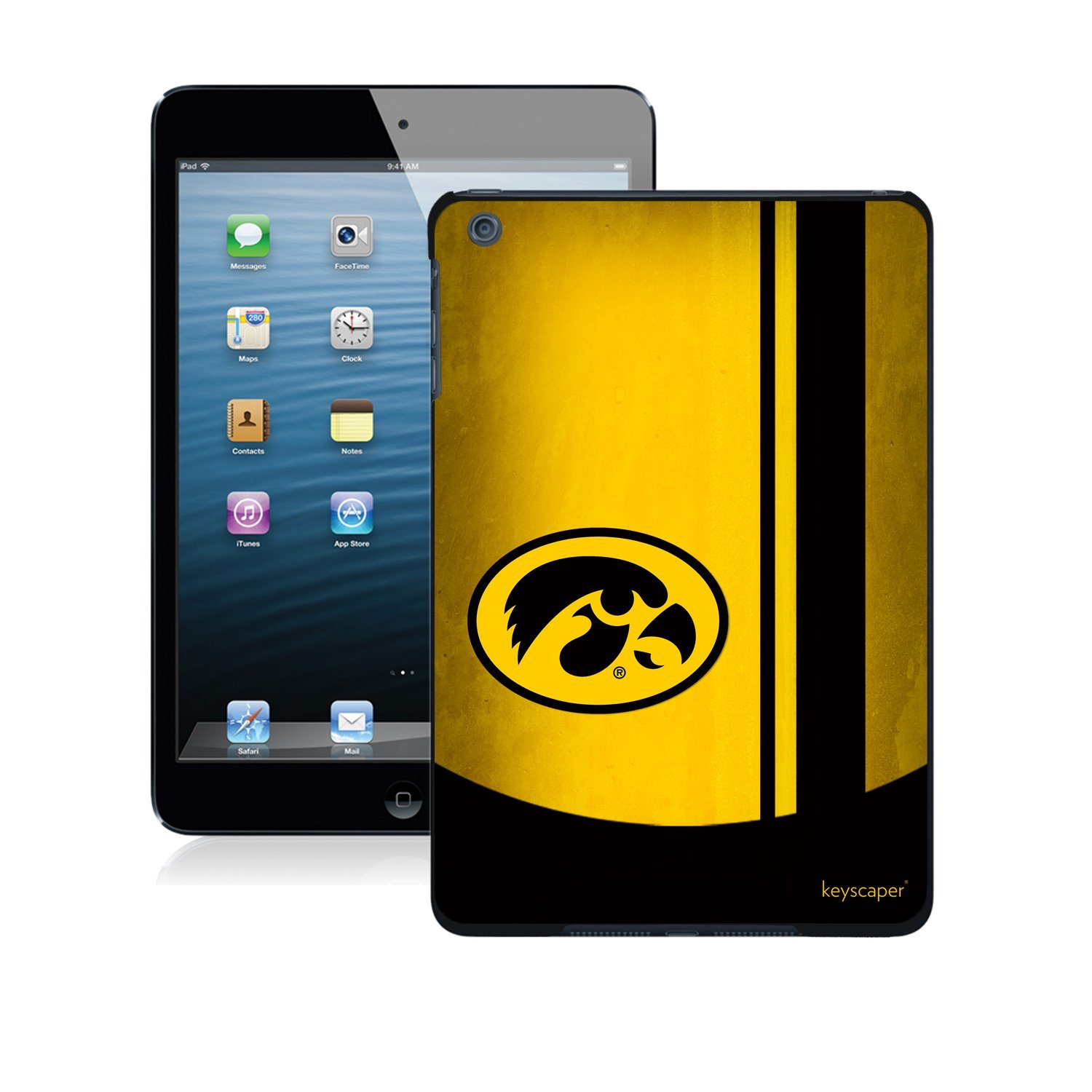 Iowa Hawkeyes iPad Mini Case officially licensed by the University of Iowa for the Apple iPad Mini by keyscaper®