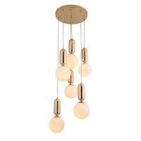 Golden and black color glass decorative modern pendant lamp for indoor lighting