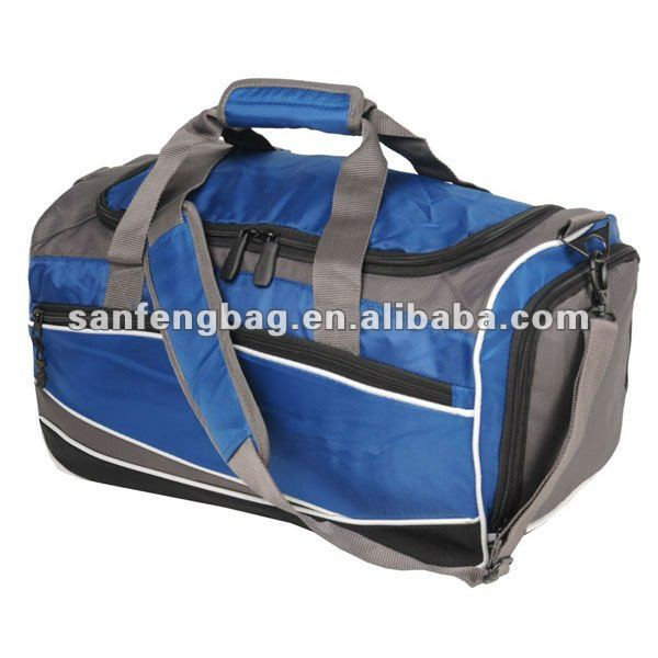 Deluxe Retro Gym Duffle Sport Bag With Shoe Compartment