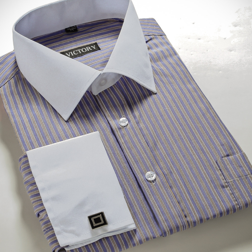 Buy Mens French Cuff Dress Shirts Designer Fashion Brand White