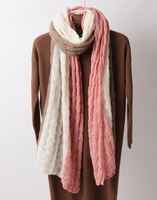 OEM custom color ladies women knit pure cashmere poncho knitted scarf for winter