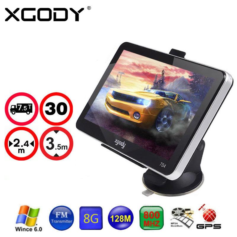 XGODY 7 inch Car Truck GPS NAVIGATION 128MB 8GB 7 GPS Navigator SAT NAV System with