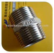Best stainless steel pipe fitting double thread hex nipple