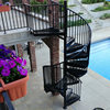 Outdoor metal spiral staircase design spiral stairs for sale in philippines