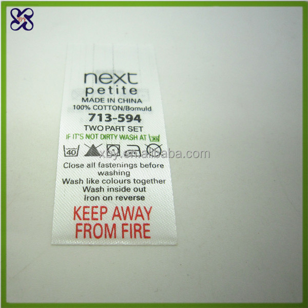 Soft Care Label For Your Product / Wash Label For Leather Bags And ...