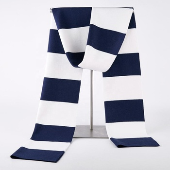 Factory price wide stripe pattern lightweight wool viscose knitted scarf
