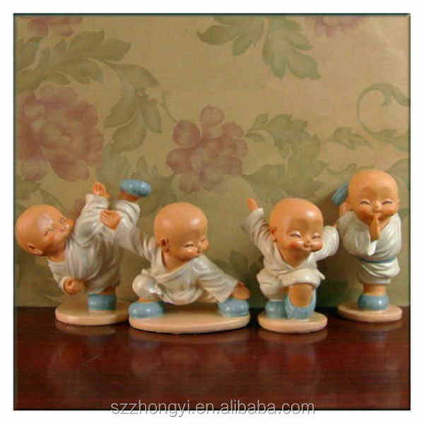 Buy China export resin shield shaolin monk statue for sale in ...