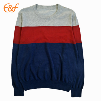 Color Combination Plain Cotton Sweater For Mens - Buy Plain ...