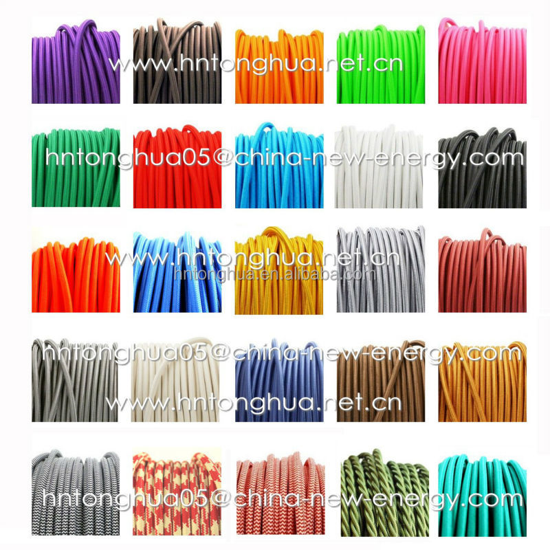 18 AWG Cloth Covered Wire Pendant Hanging Light Lamp Cord Grip Fabric Electrical Wire and Cable