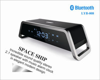 Incredible sound quality stereo 2.1 speaker with music alarm clock in elegant modern design