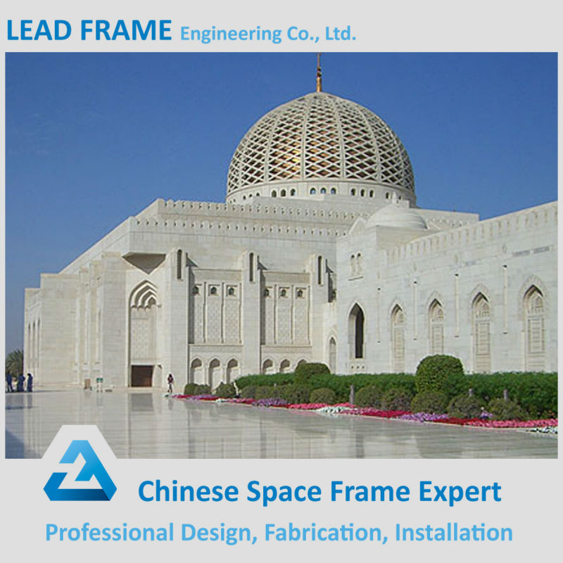 Prefabricated Light Weight Polycarbonate Covered Roofing Mosque Dome