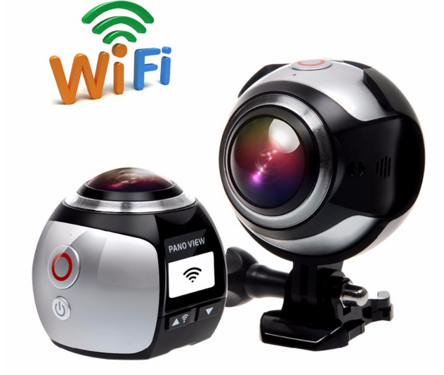 Mini 360 Video Camera 4K WiFi 16MP 3D DVR Waterproof Digital cctv Camara Panoramic Camcorder