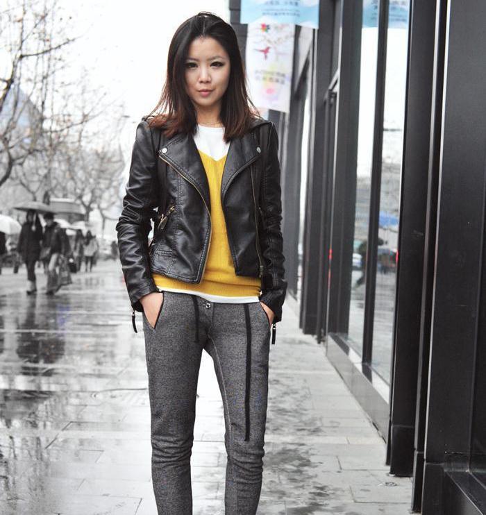 2015 новые весна осень женщины кожаная куртка красный черный PU Большой размер куртки верхней одежды JKT191