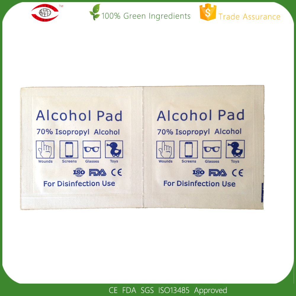 70% Isopropyl Medische Alcohol Prep Pad Alcohol Wattenstaafje