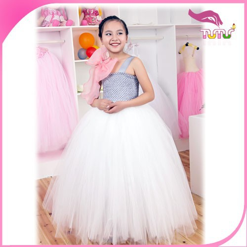 Manufacturer China Supplier Customizable White European style Dancing Party Celebration Girl Wholesale Dress