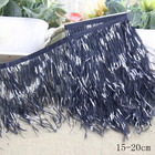 Wholesale Free shipping new products 15-20cm Black white ostrich feather trimming