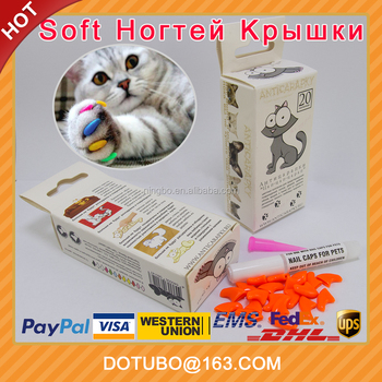 2017 Colorful Antiscratch Soft Cat Nail Caps Cat Grooming For Cat Pets Silicon Nail Protector With Free Glue And applictor