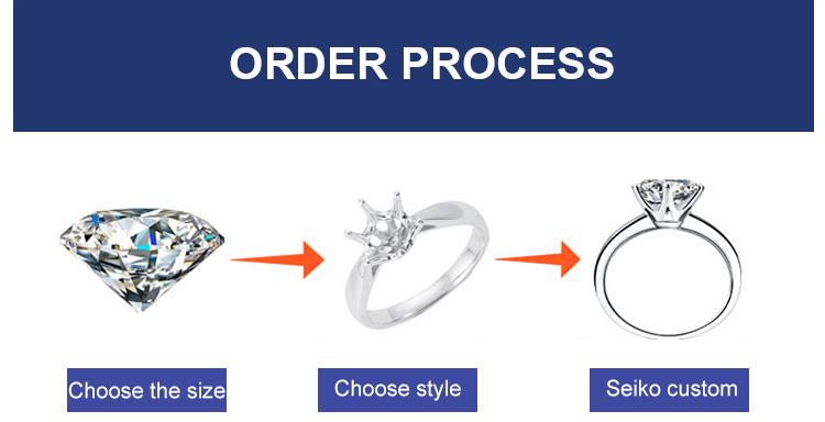 مختبر عالي الجودة خلق 4 مللي متر مويسانيت الماس للمجوهرات