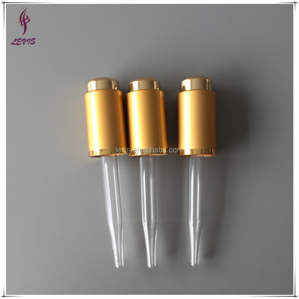 Aluminum press dropper for essential oil bottle