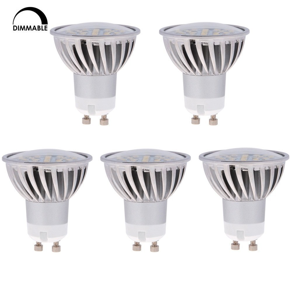 HERO-LED GU10-DIM-24T-WW Dimmable MR16 GU10 LED 120V Halogen Replacement Bulb, 120 Degree Wide Beam Floodlight, 4.8W, 50W Equivalent, 5-Pack, Warm White 3000K, 5-Pack