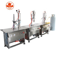 Automatic Vacuum Refrigerant Argon Cng Butane Lighter Cooking Lpg Gas Cylinder Filling Machine