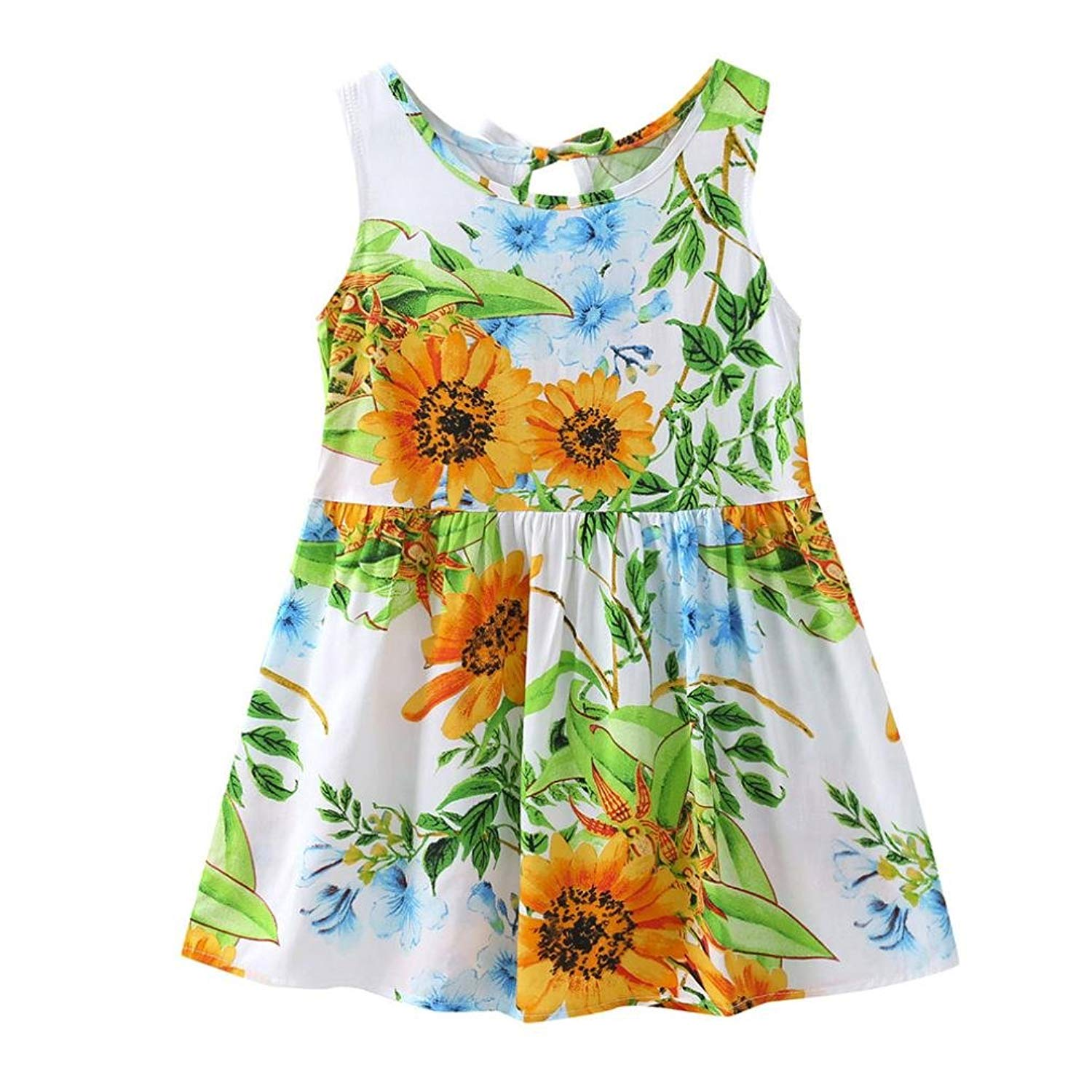 332b0f2c957b0 Get Quotations · TIFENNY Infant Baby Girls Kids Cartoon Floral Sundress  Clothes Sundress Cute Dresses,Clearance!