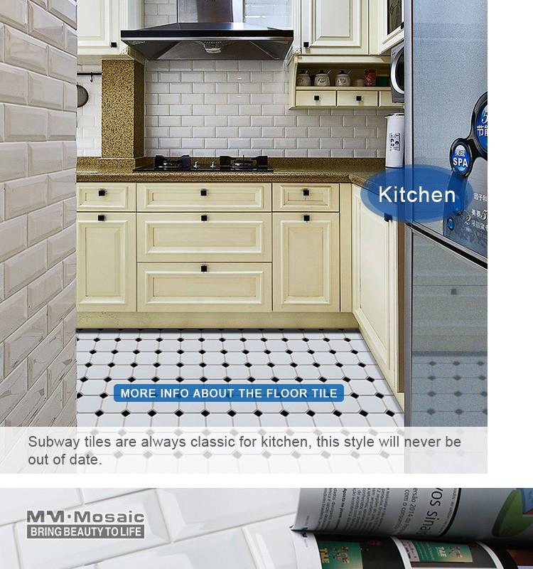 Best selling 3x6 wit bevel keramische metro tegels front muur keuken badkamer buy product on - Keuken tegel metro ...