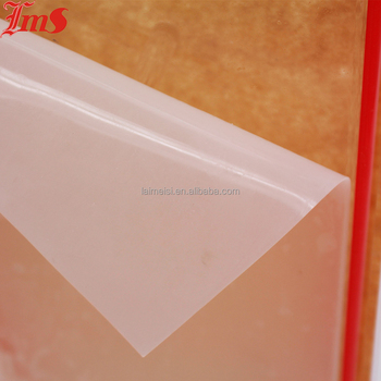 white semi clear transparent silicone rubber sheet non slip thin silicone vacuum membrane