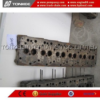 original used 6D105 with intercooling cylinder head for PC200 PC220 hydraulic excavator engine parts