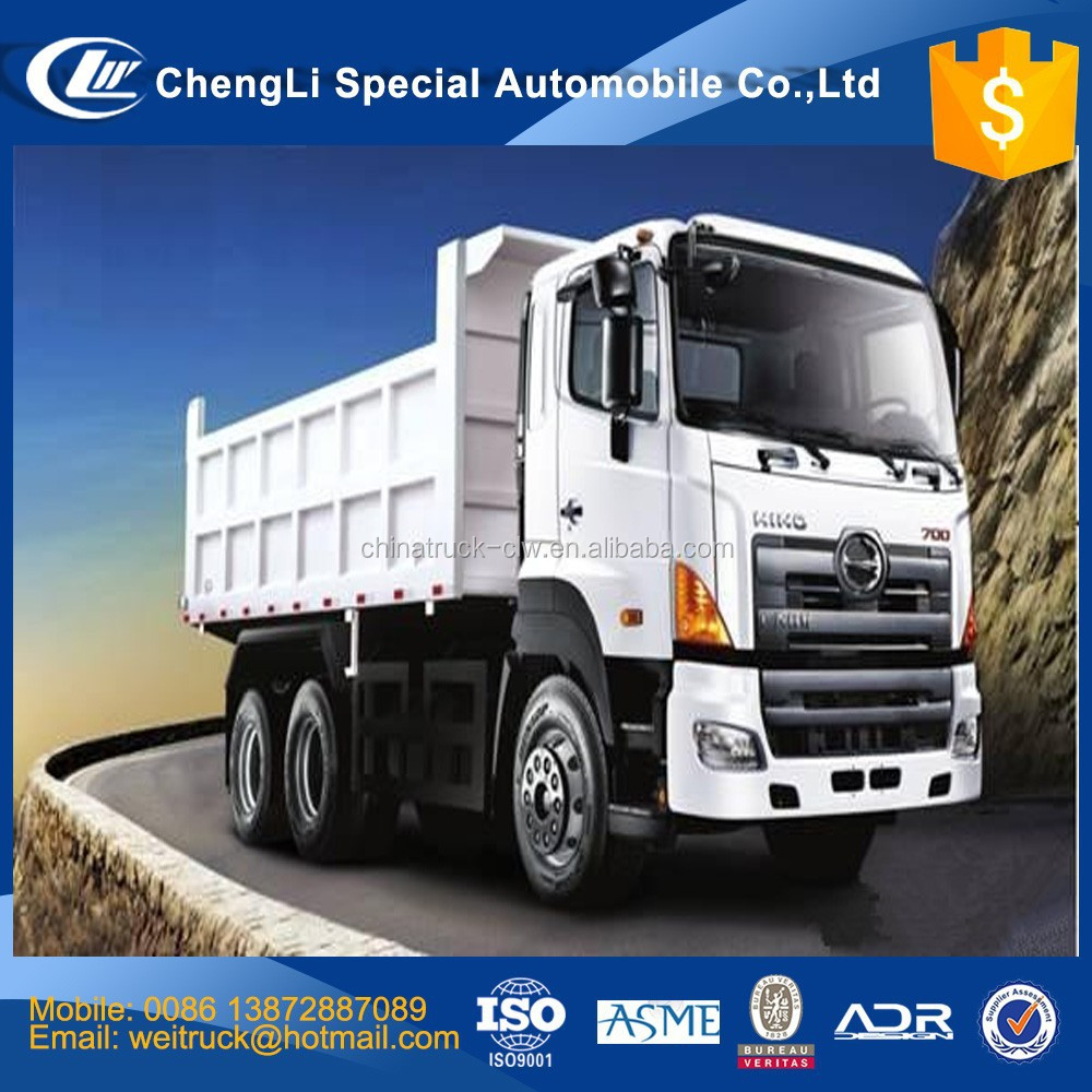 Japanese technology hino 10 wheel 6x4 20 MT 30 M T 40 MT 50 MT mining tipper truck hyva cylinder for hot sale