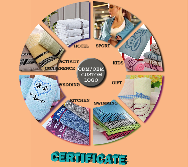 Best high quality soft Custom towels with logo exfoliating bath towel