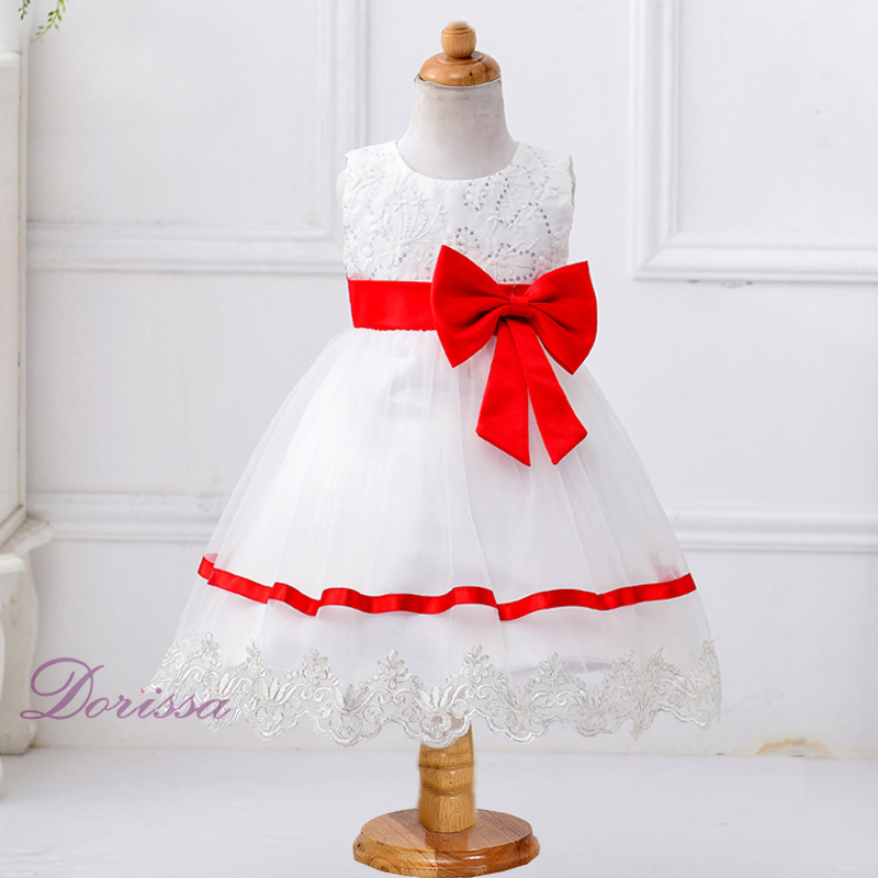 f88b91fc8 doll collar dress valentines day dress red and white wedding dresses  colourful children frocks designs