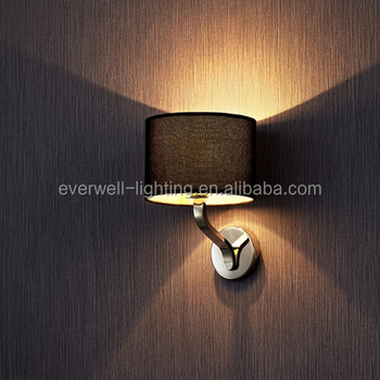Arm Wall Sconce Bedroom Reading Light Fabric Scone