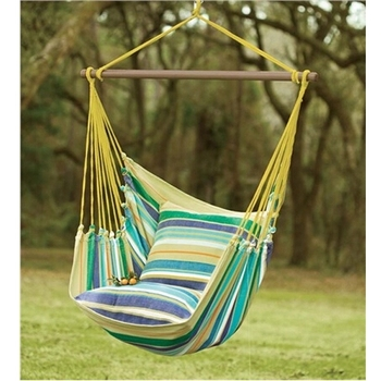 Unique Rope Cotton Hammock Chair Hanging Swing With Cushion