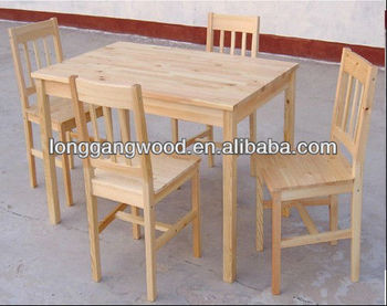 Chair Dining Table Set Wooden